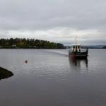 M/S Thorbjørn henter presse på vei over til Utøya