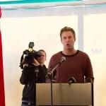 AUF-leder holdt tale da pressen besøkte Utøya