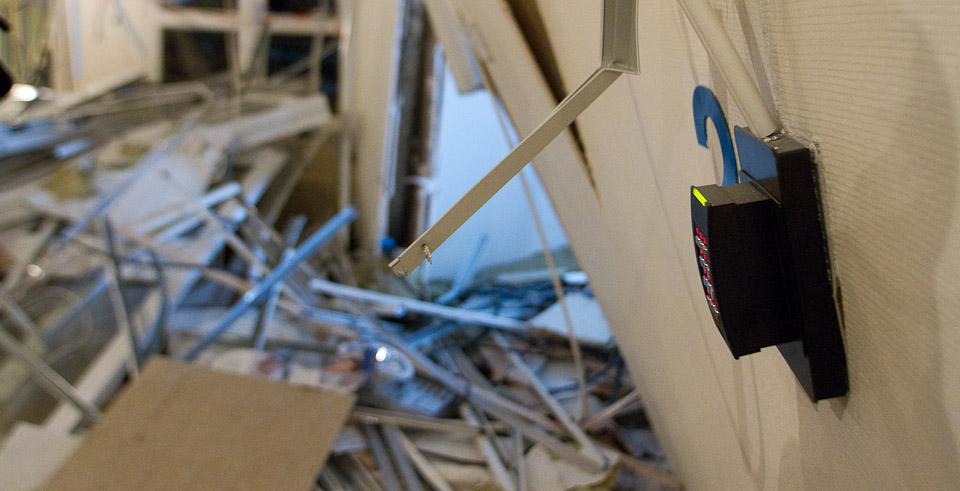 Kortleser fortsatt i drift - R4, Regjeringskvartalet 11. oktober 2011