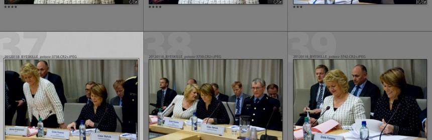 Bilder fra høring i Stortingets 22. juli-komité (18. januar 2012)