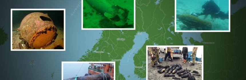 Montasje: Eksplosiver i norsk natur (foto: Forsvaret/NRK Grafikk)