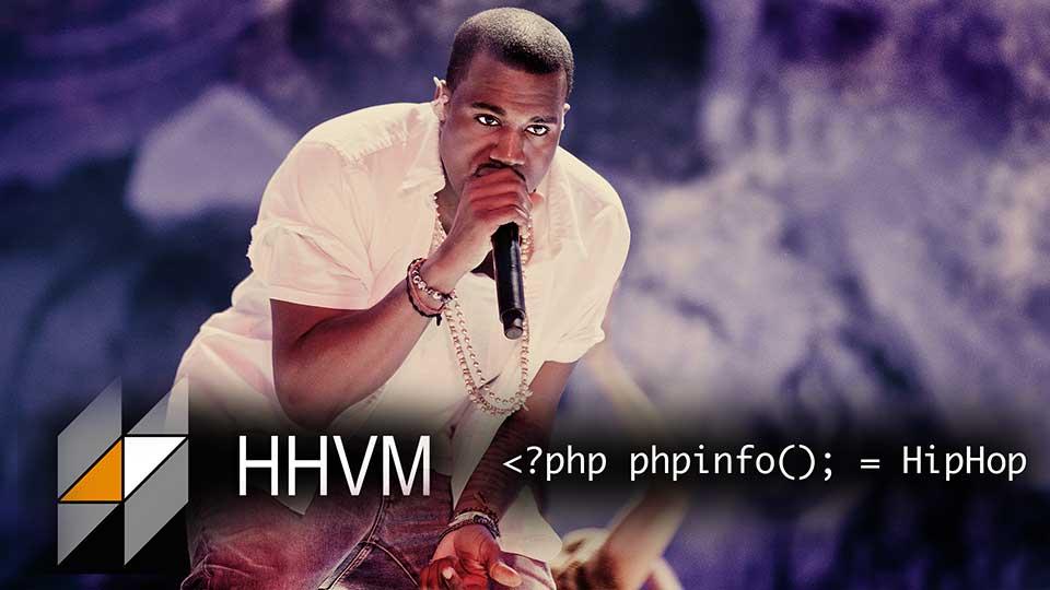 Siste versjon av HipHop Virtual Machine (HHVM) er døpt Kanye West (foto: Kim Erlandsen, NRK P3 (montasje)