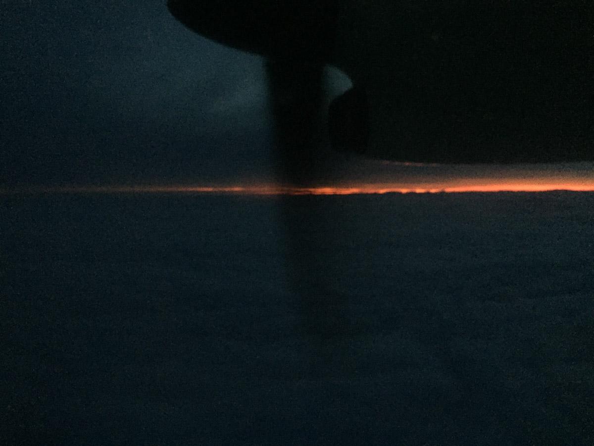 MØRKETID: Fortsatt bittelitt lys igjen over horisonten på vei til Honningsvåg