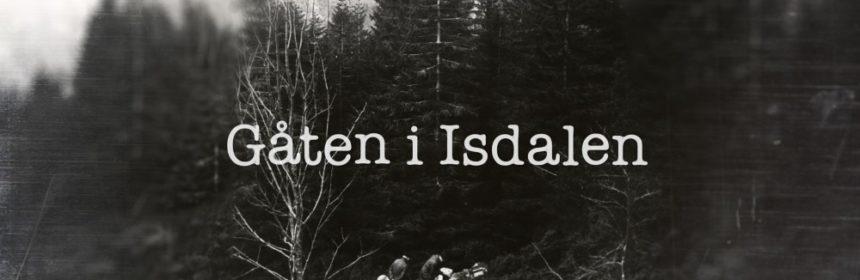 Gåten i Isdalen – logo med politifolk på åstedet